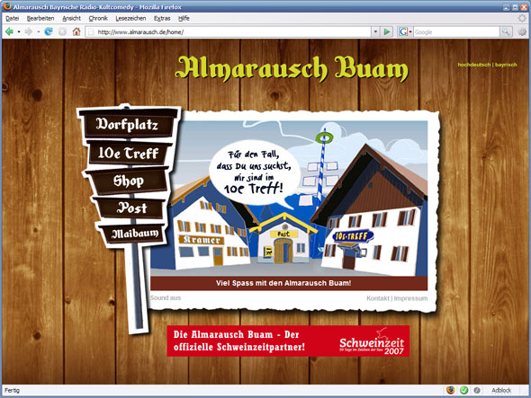 Screenshot www.almarausch.de